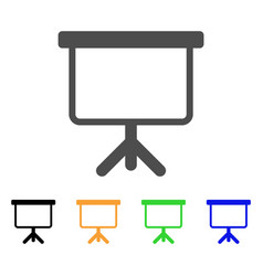 projection board icon vector image