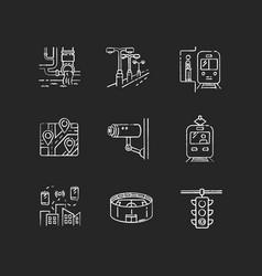 public service regulation chalk white icons set vector image