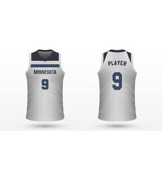 realistic sport shirt vector image