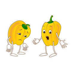 sad and surprised emotional vegetable vector image