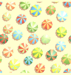 Seamless background many parasols on beach vector
