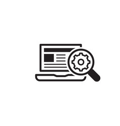 Search optimization icon flat design vector