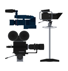 Set journalism devices icons vector