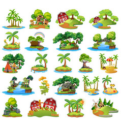 set nature island vector image