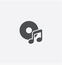 simple music icon vector image