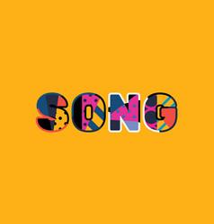 Song concept word art vector