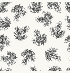 spurce seamless pattern hand drawn sketch vector image