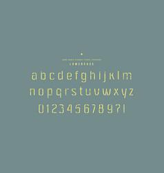 stencil-plate sans serif font vector image