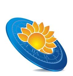 sundial vector image