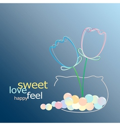 sweet glow flower vector image