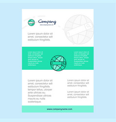 template layout for internet search comany vector image