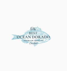 The best ocean dorado abstract sign symbol vector