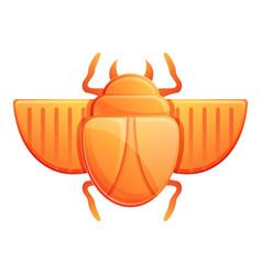 Treasure scarab beetle icon cartoon style vector