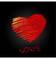 valentine heart vector image