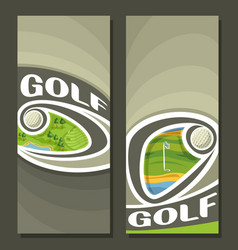 Vertical banners for golf vector