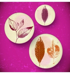 Vintage Leaves greeting card vector image