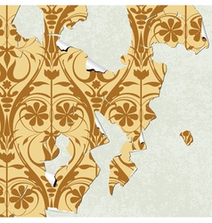 vintage wallpaper torn vector image
