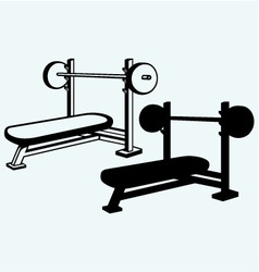 Weight bench for chest flat vector
