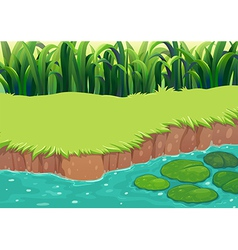 An image of a pond vector image vector image