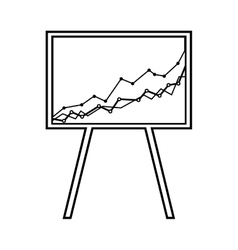 arrow growth graphic icon vector image vector image