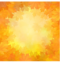 autumn background with frame of maple leaves vector image vector image