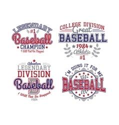 Baseball Varsity Set vector image