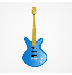 Blue Electric Guitar Isolated on White Background vector image vector image