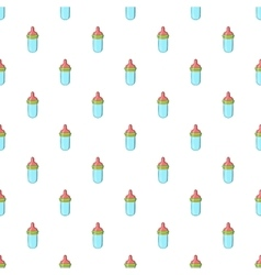 Bottle with nipple pattern cartoon style vector image vector image