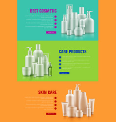 cosmetic container poster vector image