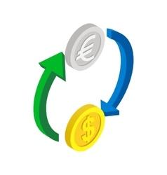 Exchange of money icon isometric 3d style vector image vector image