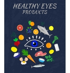 Eye Health Products vector image vector image