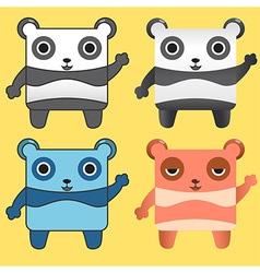 Gang Panda vector image vector image