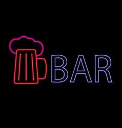 Neon beer bar vector image vector image
