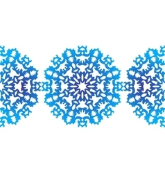 Snowflake christmas pattern circular ornament vector