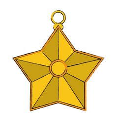 star ornament icon image vector image