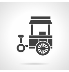 Street food trade cart glyph style icon vector image vector image
