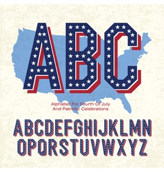 american font 4th july vector image vector image