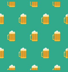 beer glass seamless pattern vector image