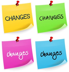 Changes Sticky Note vector image vector image