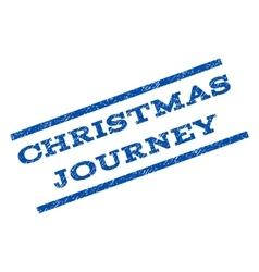 Christmas journey watermark stamp vector
