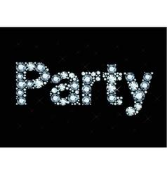 Diamond word Party vector image vector image