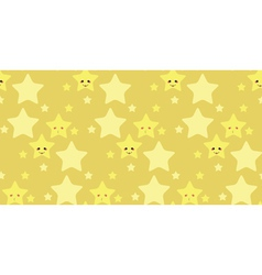 Funny stars pattern2 vector image