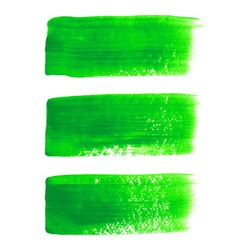 Green acrylic painted brush stroke set vector image vector image