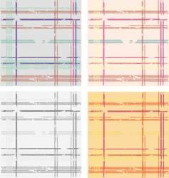 grunge tartan pattern vector image vector image
