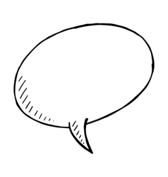 Hand drawn speech bubble doodle isolated vector image vector image
