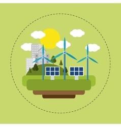 renewable energy solar wind city vector image vector image