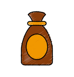 sack bag isolated vector image vector image
