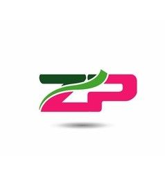 Alphabet Z and P letter logo vector image vector image