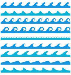 blue wave patterns vector image vector image