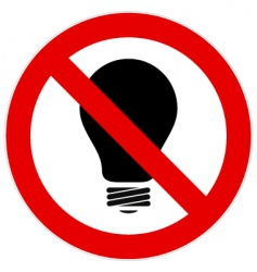 no light bulb sign vector image